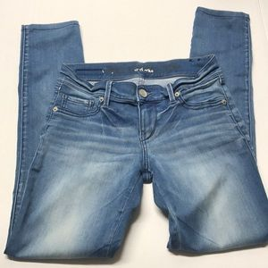 Skinny stretchy midrise jeans